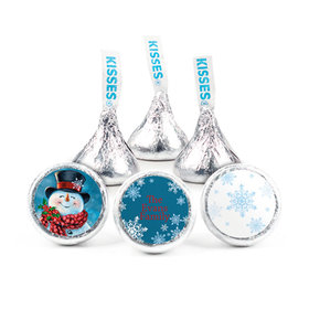 Personalized Christmas Jolly Snowman Hershey's Kisses (50 pack)