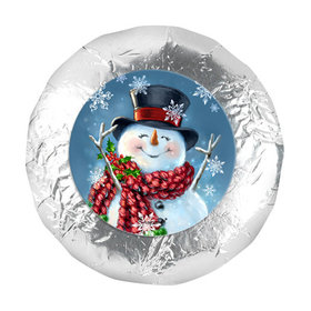 "Christmas Jolly Snowman 1.25"" Stickers (48 Stickers)"