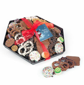 Happy Holidays Snowman Gourmet Belgian Chocolate Gift Tray