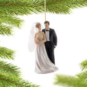 Personalized Wedding Day Couple Christmas Ornament