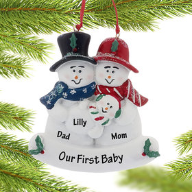 Personalized Our First Child Christmas Ornament