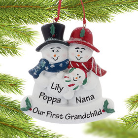 Personalized Our First Grandchild Christmas Ornament