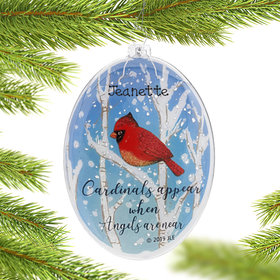 Personalized Cardinals Appear when Angels are Near Christmas Ornament