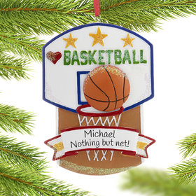 Personalized Love My Sport Basketball Christmas Ornament