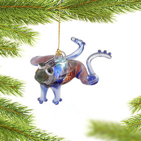 Multi-Colored Frog Christmas Ornament