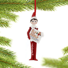 Personalized Elf on the Shelf Reading Christmas Ornament