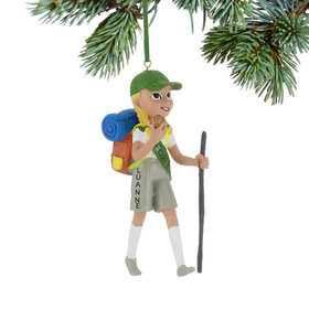 Personalized Girl Scout Junior Navigator Christmas Ornament