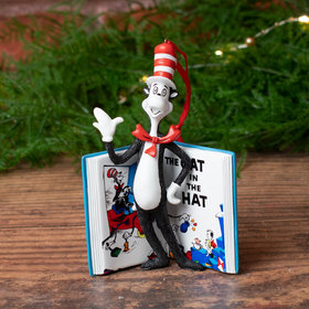 The Cat in the Hat Book Christmas Ornament
