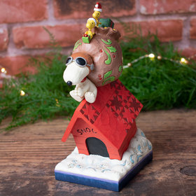 Snoopy and Woodstocks Delivering Gifts Jim Shore Tabletop Christmas Ornament