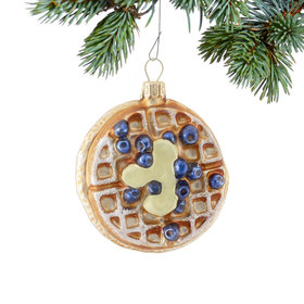 Personalized Blueberry Waffle Christmas Ornament
