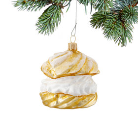 Personalized Cream Puff Christmas Ornament