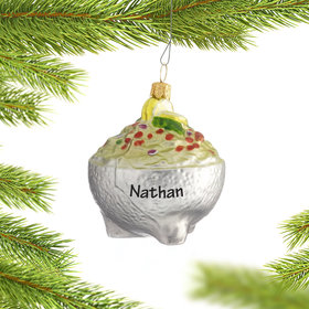 Personalized Bowl of Guacamole Christmas Ornament