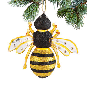 Personalized Bumble Bee Christmas Ornament
