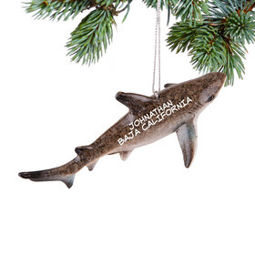 Personalized Reef Shark Christmas Ornament