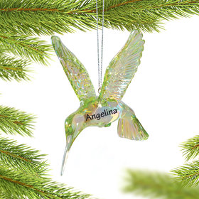 Personalized Hummingbird Christmas Ornament