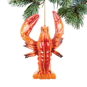 Personalized Lobster Christmas Ornament