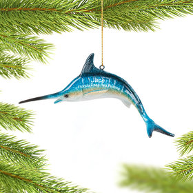 Personalized Swordfish Christmas Ornament