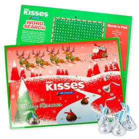 Holiday Hershey's Kisses Countdown to Christmas Advent Calendar