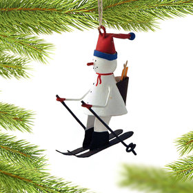 Snowman on Skis Christmas Ornament