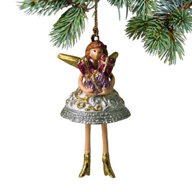 Pixie Angel Holding Presents Christmas Ornament