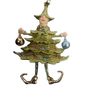 Personalized Christmas Tree Elf with Ornaments Christmas Ornament