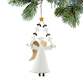 Angel with Snowflake Garland Christmas Ornament