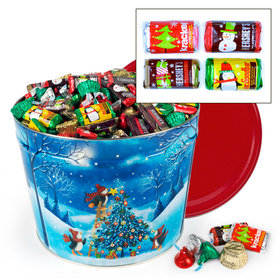 Merry Penguins Hershey's Holiday Mix Tin - 14 lb
