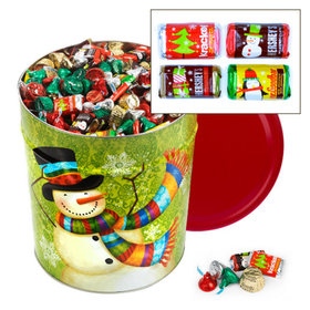 Scarf Snowman Hershey's Holiday Mix Tin - 20 lb