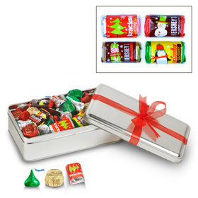 Simply Christmas with Red Ribbon Hershey's Holiday Mix Tin - 1.5 lb