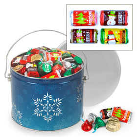 Shimmering Snowflakes Hershey's Holiday Mix Tin - 3.5 lb
