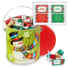 Personalized Scarf Snowman Merry Christmas Hershey's Mix Tin - 5 lb