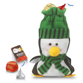 Little Green Penguin Bag Hershey's Holiday Mix
