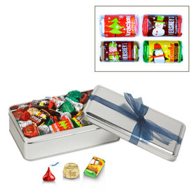 Simply Holiday with Blue Ribbon Hershey's Holiday Mix Tin - 1.5 lb