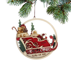 Jolly Ol' Elf Christmas Ornament