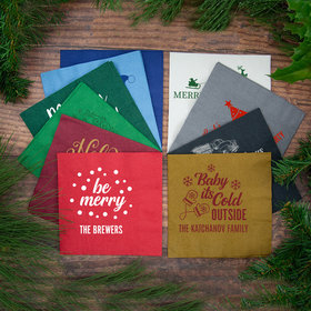Personalized Christmas 3-Ply Traditional Lunch Napkins