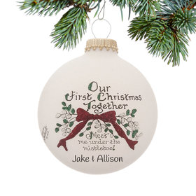 Personalized Our First Christmas Together Christmas Ornament