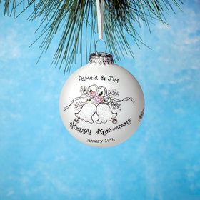 Personalized Happy Anniversary Bells Christmas Ornament