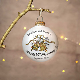 Personalized Happy 50th Anniversary Bells Christmas Ornament