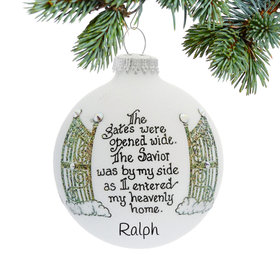 Personalized Heaven's Gate on Clouds Christmas Ornament