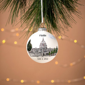 Personalized Capitol Building Christmas Ornament