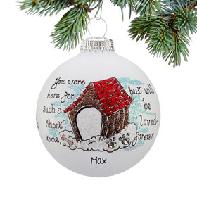 Personalized Memorial Doghouse Christmas Ornament