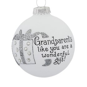 Grandparents Present Christmas Ornament
