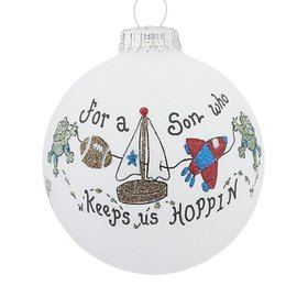 For a Son who keeps us Hoppin Christmas Ornament