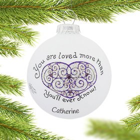 Personalized You Are Loved Christmas Ornament