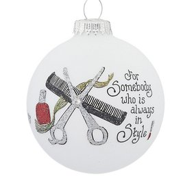 Somebody in Style Christmas Ornament