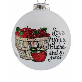 Love You A Bushel And A Peck! Christmas Ornament