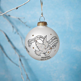 Personalized Blessings on your Confirmation Day Christmas Ornament