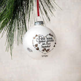 Personalized Pets Leave Paw-Prints on Our Hearts! Christmas Ornament