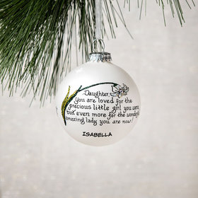 Personalized Daughter You Are Loved Christmas Ornament