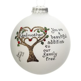 Godmother Family Tree Christmas Ornament